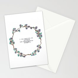Caffeine and Inappropriate Thought Stationery Cards