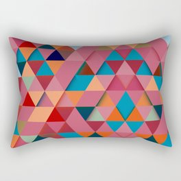 Colorfull abstract darker triangle pattern Rectangular Pillow