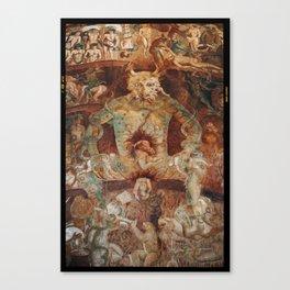 The last judgment hell by francesco Traini campo santos Pisa Italy Canvas Print