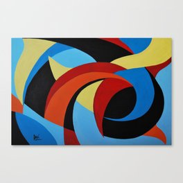 Abstract n.1 - Dancing. Everything Dissolve Canvas Print