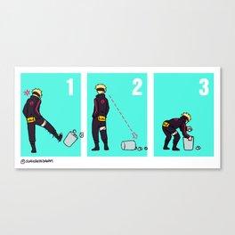Boruto + trash can Canvas Print