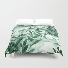 Changes Hunter Green Duvet Cover