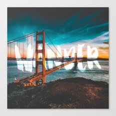WANDER - wall tapestry - travel - water - sky - landscape nature photography tapestries love Canvas Print