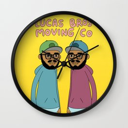Lucas Bros Moving Co Wall Clock