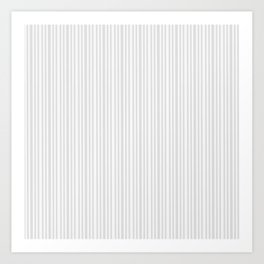 Pastel gray white vintage stylish geometrical stripes Art Print