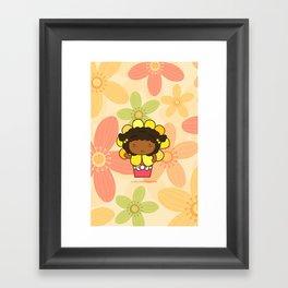 Flower in a Pot Framed Art Print