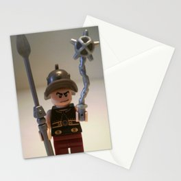 Gladiator 'Cracalla the Gladiator' LEGO Custom Minifigure by Chillee Wilson Stationery Cards