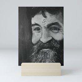 Charlie Manson (RIP) Mini Art Print