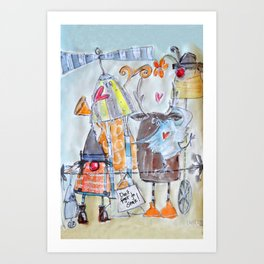 Don't forget to smile! Art Print