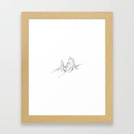 Mountain Series - The Old Man of Storr (B&W) Framed Art Print
