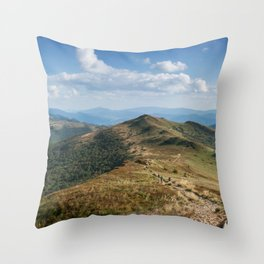 Bieszczady Panorama Throw Pillow