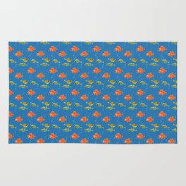 Just Some Pacific Fish Pattern Rug
