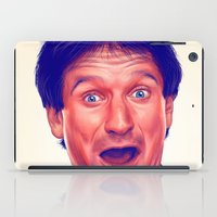 robin williams iPad Cases featuring Young Robin Williams  by Thubakabra