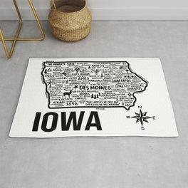 Iowa Map  Rug