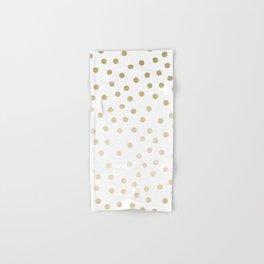 Stylish Gold Polka Dots Hand & Bath Towel