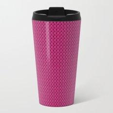 Knitted spring colors - Pantone Pink Yarrow Travel Mug