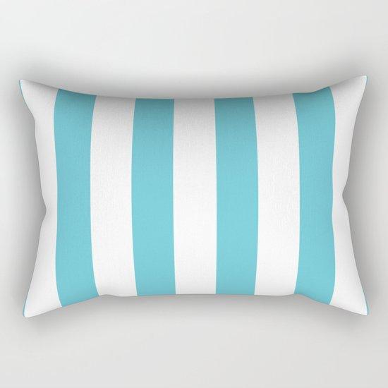 Simply Vertical Stripes in Seaside Blue Rectangular Pillow