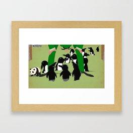 Penguin discovery Framed Art Print