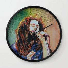 Bob in watercolor painting Wall Clock