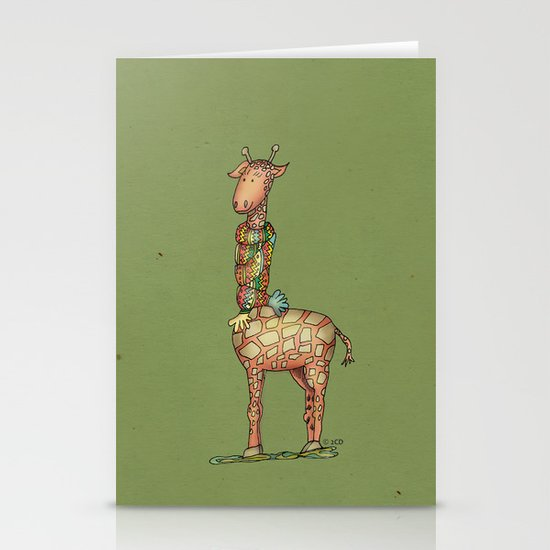 Cleo - green Stationery Cards