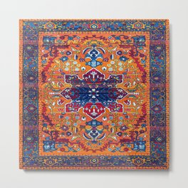 Vintage Antique Traditional Berber Atlas Moroccan Style Design. Metal Print