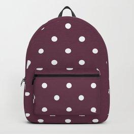 Polka Dots Pattern: Burgundy Backpack