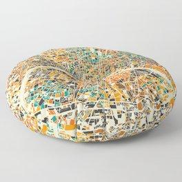 Paris mosaic map #3 Floor Pillow