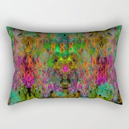 Frenetic Vibrations of Butterfly Wings (abstract, psychedelic) Rectangular Pillow
