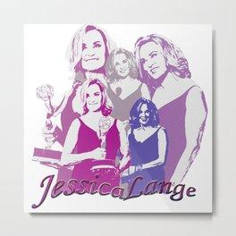 Jessica Lange - Emmys 2014 Metal Print