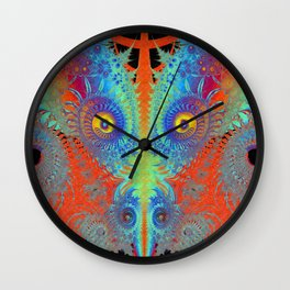 Puff The Fractal Dragon Wall Clock