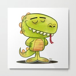 Anmals N' Stuff Series - 2 - Lizard Metal Print