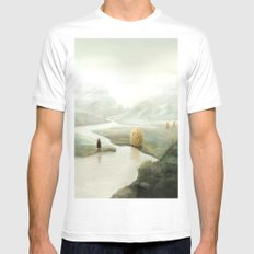 The Visitors White Mens Fitted Tee MEDIUM