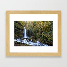 Dry Creek Falls Framed Art Print