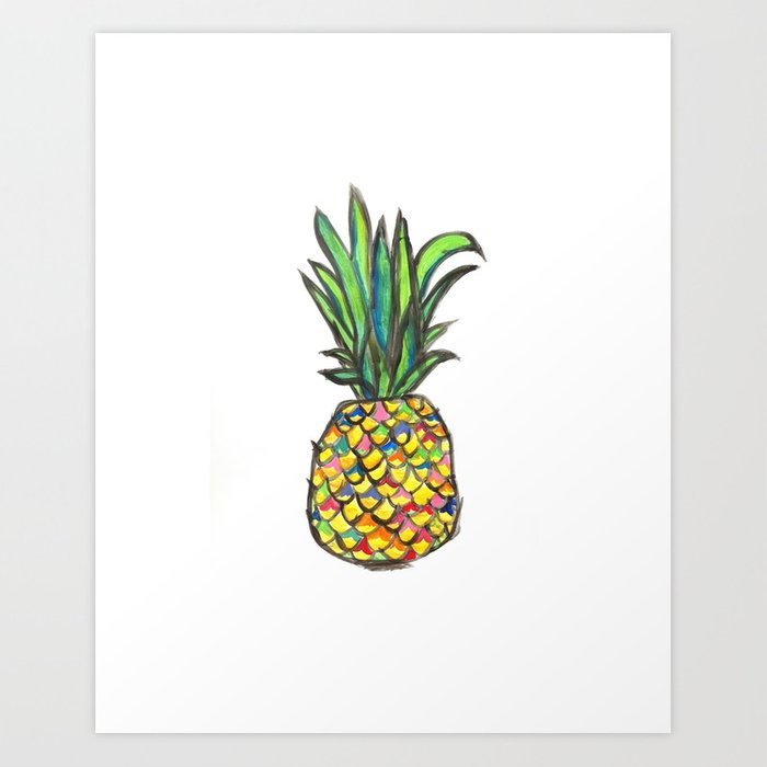 Pineapple Paradise Please Art Print