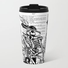Calavera Cyclists | Black and White Metal Travel Mug