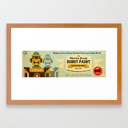 Robot Paint Framed Art Print