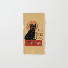 Le bouledogue français The Black Frenchie Hand & Bath Towel