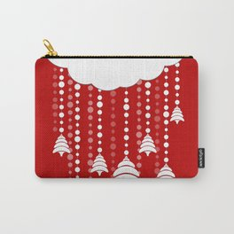 Christmas, snow, tree and cloud Carry-All Pouch
