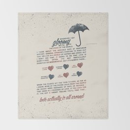 Love Actually Throw Blanket