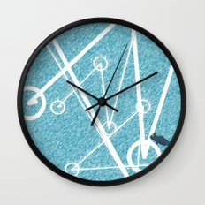 Undulate - whale edition Wall Clock