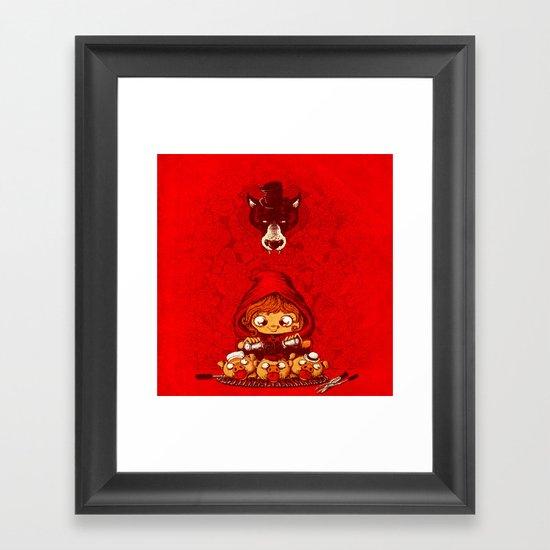 and the winner is... Framed Art Print