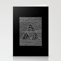 joy division Stationery Cards featuring Triforce // Joy Division by Daniel Mackey