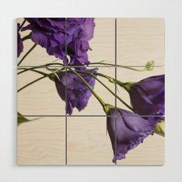 Purple Lisanthus Flowers #2 Wood Wall Art