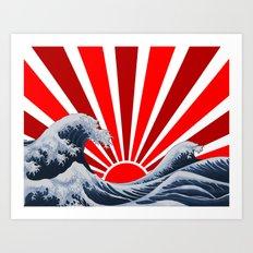 Great Wave of the Rising Sun Art Print