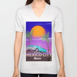 """Mexico City - """"Mexican nights"""" version Unisex V-Neck"""