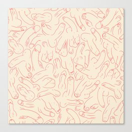 Penis Pattern Canvas Print