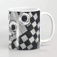cigarettes Mugs featuring Coffee and Cigarettes by Aleksandra Kabakova