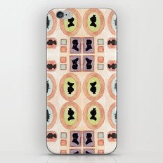 Victorian Silhouette Pattern iPhone & iPod Skin
