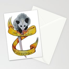Not dead... just sleeping... Stationery Cards
