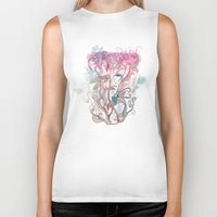 clover Biker Tanks featuring Floral clover by /CAM